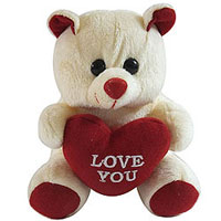 Beautiful Pink Love Teddy with Heart to Aligarh