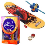 Charismatic Spider-Man Skate Board with Chocolates to Nakoda