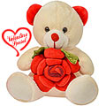 Excellent Heart Melting Teddy Bear with Flower to Gurgaon