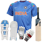 Sensational Cricketer Virat Kohli Batting Kit to Hyderabad