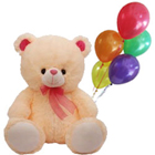 Pretty Gift of Love Teddy with Balloons to Delhi
