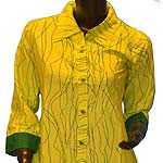 Vibrant Yellow Longshirt Cotton Tunic to Pappanaickenpalayam