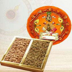 Decorative Thali with Pack of Dry Fruits to Diwali_uk.asp