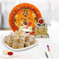 Exquisite Pooja Thali with Mandap N Kaju Katli to Diwali_uk.asp