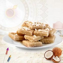 Delectable Coconut Barfi Pack for Pooja to Diwali_uk.asp