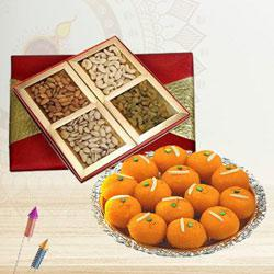 Delicious Dry Fruits with Boondi Ladoo to Diwali_uk.asp