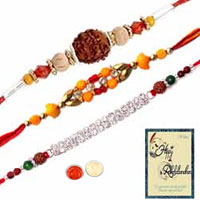 Beautiful Combo of Rakhis with Rakhi Card to Rakhi_to_uk.asp