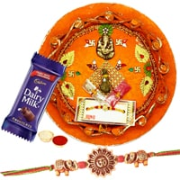 Rakhi Thali with One Rakhi to Rakhi_to_uk.asp