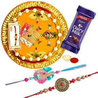 Rakhi Thali with 2 Rakhi to Rakhi_to_uk.asp