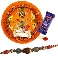 Charming  Rakhi With Rakhi Thali to Rakhi_to_uk.asp