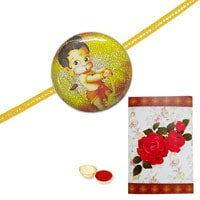 Beatific Ganesha Kid Rakhi to Rakhi_to_uk.asp