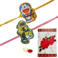 Stunning Kids Rakhi of Ben 10 N Doreamon to Rakhi_to_uk.asp