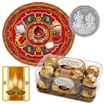 Thali with Ferrero Rocher Chocolate to Diwali_usa.asp