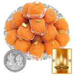 Boondi Laddoo with Silver Plated Coin to Diwali_usa.asp