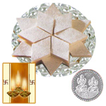 Kaju Katli with Silver Plated Coin to Diwali_usa.asp
