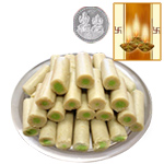 Kaju Pista Roll with Silver Plated Coin to Diwali_usa.asp