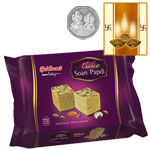 Haldiram Soan Papdi l with Silver Plated Coin to Diwali_usa.asp
