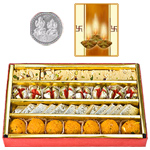 Assorted Sweets with Silver Plated Coin to Diwali_usa.asp