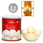 Haldiram Rasgulla with Silver Plated Coin to Diwali_usa.asp