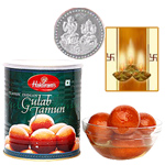 Haldiram Gulab Jamun with Silver Plated Coin to Diwali_usa.asp