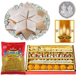 Kaju Katli, Assorted sweets with Bhujia to Diwali_hamper_usa.asp