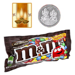Famous M&M Chocolates ( 57 Gms.) Bag. with free 5 gms Siver Plated Coin and Diwali Card. to Diwali_usa.asp