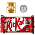 Kitkat Chocolate Bar ( 57 Gms.) with free 5 gms Siver Plated Coin and Diwali Card. to Diwali_usa.asp