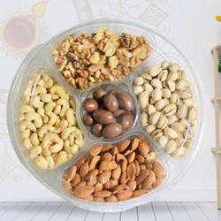Crispy Dry Fruits Gift Tray with Laxmi Ganesh Idol<br> to Diwali_usa.asp