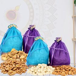 Decorative Dry Fruits Potli with Laxmi Ganesh Idol<br><br> to Diwali_usa.asp