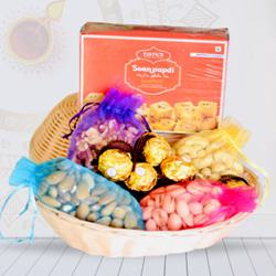 Exclusive Combo of Dry Fruits Basket with Sweets and Chocolates<br> to Diwali_usa.asp