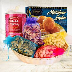 Divine Combo of Dry Fruit Assortments with Motichoor Ladoo to Diwali_usa.asp