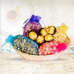 Delicious Ferrero Rocher N Dry Fruits Gift Hamper to Diwali_usa.asp