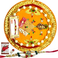 Rakhi Thali with One or More Rakhi Options<br /><font color=#0000FF>Free Delivery in USA</font> to Rakhi_to_usa.asp