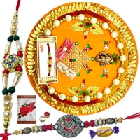 Rakhi Thali with 2 or More Rakhi Options with Chocolates<br /><font color=#0000FF>Free Delivery in USA</font> to Rakhi_thali_usa.asp