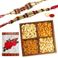 2 or more Designer Ethnic Rakhi with 250 Gms. Dry fruits�<br /><font color=#0000FF>Free Delivery in USA</font> to Rakhi_dry_usa.asp