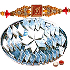 One or More Designer Ethnic Rakhi with 500 Gms. Kaju Katli<br /><font color=#0000FF>Free Delivery in USA</font> to Stateusa.asp