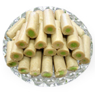 250 Gms. Kaju Pista Roll<br /><font color=#0000FF>Free Delivery in USA</font> to Rakhi_to_usa.asp
