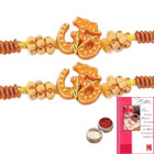 Two Om Rakhi with Roli Tika<br /><font color=#0000FF>Free Delivery in USA</font> to Stateusa.asp