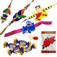 Rakhi with Chocolates<br /><font color=#0000FF>Free Delivery in USA</font> to Rakhi_to_usa.asp