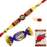 Jeweled Rakhi n Chocolates<br /><font color=#0000FF>Free Delivery in USA</font> to Rakhi_to_usa.asp