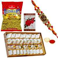 One or More Rakhis with Assorted Sweets n Bhujia <br /><font color=#0000FF>Free Delivery in USA</font> to Rakhi_to_usa.asp