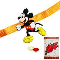1 Mickey Mouse Rakhi with Roli Tika<br /><font color=#0000FF>Free Delivery in USA</font> to Serch_price_usa.asp