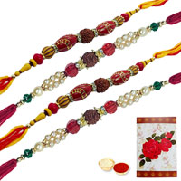 4 Divine Rudraksh Rakhi<br><font color=#0000FF>Free Delivery in USA</font> to Serch_price_usa.asp