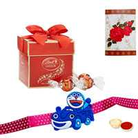 Kids Rakhi with 2 pc Lindt chocolate<br><font color=#0000FF>Free Delivery in USA</font> to Stateusa.asp