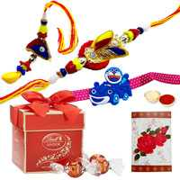 2 designer ethnic & 1 kids with 2pc Lindt Chocolate<br><font color=#0000FF>Free Delivery in USA</font> to Serch_price_usa.asp