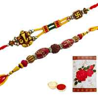 2 Auspicious Rakhi<br><font color=#0000FF>Free Delivery in USA</font> to Rakhi_to_usa.asp