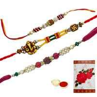 3 Auspicious Rakhi<br><font color=#0000FF>Free Delivery in USA</font> to Rakhi_to_usa.asp