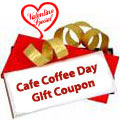 CAFE COFFEE DAY gift coupon Worth Rs. 500 /- to India