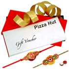 Pizza Hut Voucher Worth Rs. 800 with 2 Rakhis and Roli Tilak Chawal to Varanasi