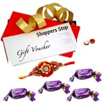 Shoppers Stop Gift Vouchers Worth Rs. 2000 and Chocolate with Rakhi and Roli Tilak Chawal to Cochin